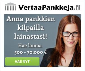 Vertaa pankkeja helposti ja nopeasti!